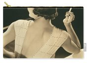 A Glamourous Woman Smoking Carry-all Pouch