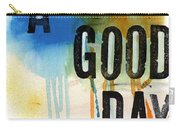 A Good Day- Abstract Painting  Carry-all Pouch by Linda Woods