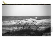 A Gray November Day At The Beach Carry-all Pouch by Susanne Van Hulst