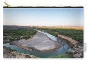 A Green River Curves Around A Deep Bend Carry-all Pouch