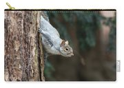 A Grey Squirrel Making It S Way Carry-all Pouch