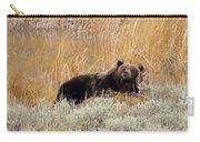 A Grizzily On A Buffalo Carcass Carry-all Pouch