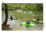 A Group Of Kayakers, Rafters Carry-all Pouch