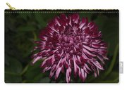 A Happy Birthday Wish With An Elegant Maroon And Pink Mum Carry-all Pouch