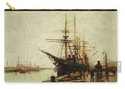 A Harbor Carry-all Pouch by Eugene Galien-Laloue