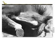 A Hard To Reach Itch Bw Carry-all Pouch