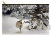 A Hare In The Snow Carry-all Pouch