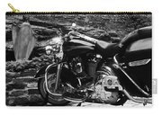 A Harley Davidson And The Virgin Mary Carry-all Pouch