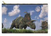 A Herd Of Albertaceratops Grazing Carry-all Pouch