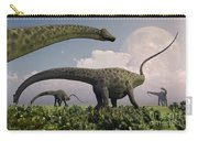 A Herd Of Diplodocus Sauropod Dinosaurs Carry-all Pouch