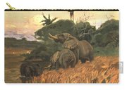 A Herd Of Elephants By Moonlight Carry-all Pouch