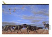 A Herd Of Parasaurolophus Dinosaurs Carry-all Pouch