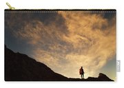 A Hiker Standing On A Ridge At Sun Rise Carry-all Pouch