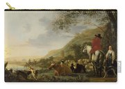 A Hilly Landscape With Figures Carry-all Pouch