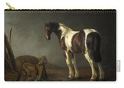 A Horse With A Saddle Beside It Carry-all Pouch