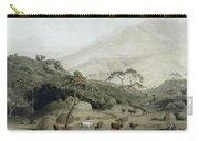 A Kaffir Village, C.1801 Wc & Graphite On Paper Carry-all Pouch