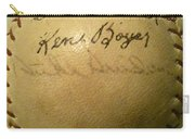 A Ken Boyer And Duke Snider Autograph Baseball Carry-all Pouch