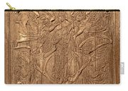 A King Carved In Wood Carry-all Pouch