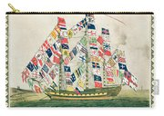 A King S Ship Dressed With The Colours Of Different Nations 6th October 1794 Carry-all Pouch