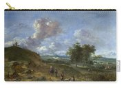 A Landscape With A High Dune And Peasants On A Road Carry-all Pouch