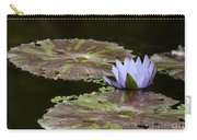 A Little Lavendar Water Lily Carry-all Pouch