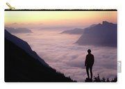 A Lone Hiker Above The Clouds Carry-all Pouch