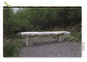 A Long Stone Section Over Wooden Stumps Forming A Rough Sitting Area Carry-all Pouch
