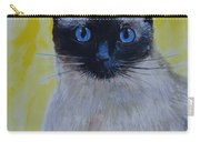 A Loving Siamese Carry-all Pouch by Leslie Allen