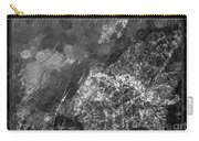 A Magical Face In The Water Abstract Black And White Painting Carry-all Pouch