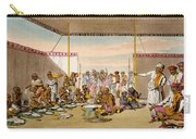 A Mahratta Surdar Entertaining Carry-all Pouch