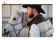 A Male Ranch Hand In A Cowboy Hat Carry-all Pouch