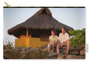 A Man And Woman Enjoy Sunset Carry-all Pouch