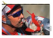 A Man Drinking Water Carry-all Pouch