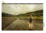 A Man Flyfishing On A River Carry-all Pouch
