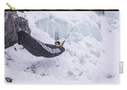 A Man Hangs In A Hammock Sleeping Bag Carry-all Pouch