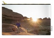 A Man Hiking In The Needles District Carry-all Pouch