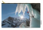 A Man Ice Climbing Louise Falls Carry-all Pouch