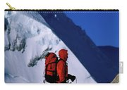 A Man Mountaineering In The Alps Carry-all Pouch
