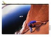 A Man Rock Climbing Carry-all Pouch