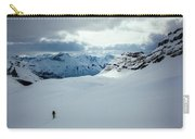 A Man Ski Touring Near Icefall Lodge Carry-all Pouch