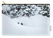 A Man Skis On Teton Pass In Wyoming Carry-all Pouch