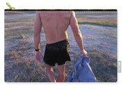 A Man Takes Off His Clothes And Walks Carry-all Pouch