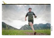 A Man Trail Runs Along The Spring Brook Carry-all Pouch
