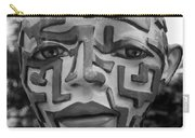 A Maze Ing Face Black And White Carry-all Pouch