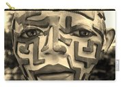 A Maze Ing Face Sepia Carry-all Pouch