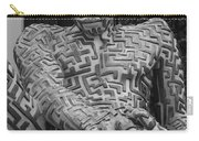 A Maze Ing Man 1 Black And White Carry-all Pouch