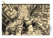 A Maze Ing Man 4 Sepia Carry-all Pouch