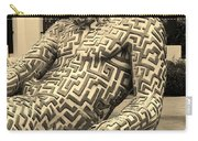 A Maze Ing Man 5 Sepia Carry-all Pouch