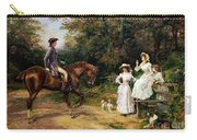 A Meeting By A Stile  Carry-all Pouch by Heywood Hardy