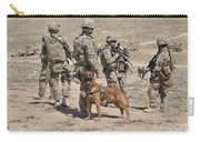 A Military Working Dog Accompanies U.s Carry-all Pouch